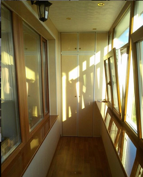 Утепление и отделка балкона до