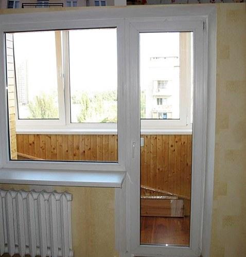 Балконный блок и окно с откосами до