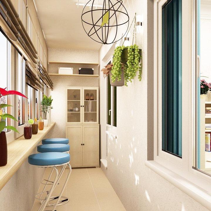 Комплексное утепление и отделка балкона