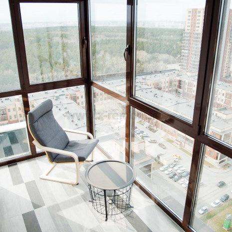 Алюминиевое раздвижное панорамное остекление балкона