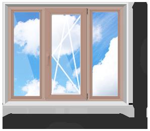 Трёхстворчатое окно