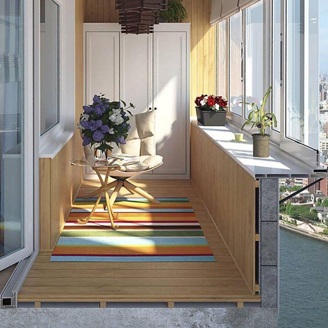 Остекление балкона с выносом по парапету